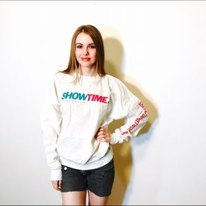 SHOWTIME MOVIE CHANNEL VINTAGE THIN SWEATER #D71